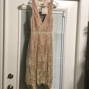 Gold/champagne cocktail dress